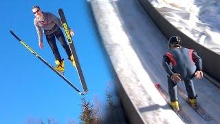 Parkour Meets Ski Jumping