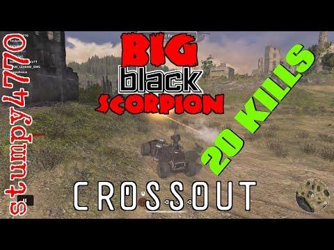 Crossout, Big Black Scorpion: The Elusive 20 Kill Match.