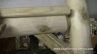 Deluxe Cedar Log Mailbox Post | Outdoor Log Furniture Accessories