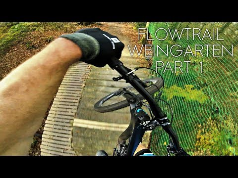 Flowtrail Weingarten part1 - sighting lap VS going fast -subtitled-
