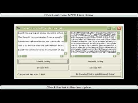 Windows App-Base64 Encode/Decode Library from YouTube · Duration:  56 seconds