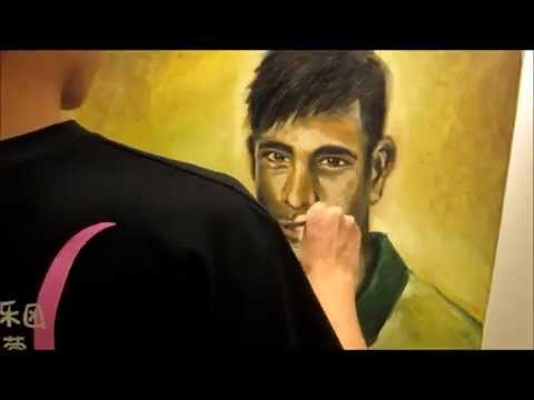 Neymar da Silva Santos Junior -- Oil Painting by Antonin Yee