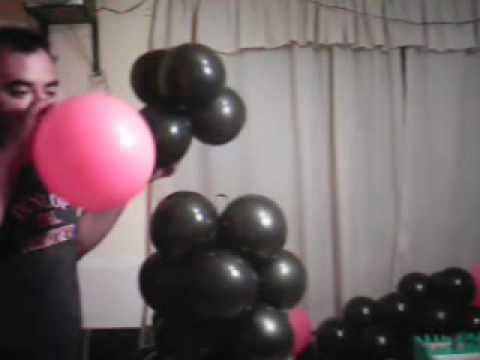 Decoracion con globos mu eco de graduacion parte 2 youtube for Decoracion de grado