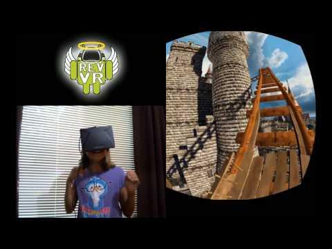 Rev VR - Rift Kids Try Roller Coaster