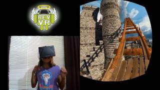 Rev VR - Rift Kids Try Roller Coaster