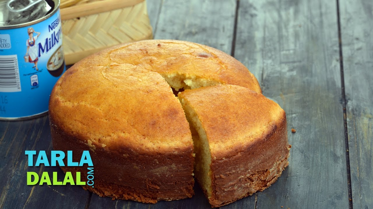 Eggless Vanilla Cake Recipes In Pressure Cooker: Eggless Vanilla Sponge Cake (Pressure Cooker) By Tarla