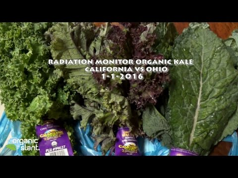 Radiation monitor organic kale California vs Ohio 1-1-2016 |