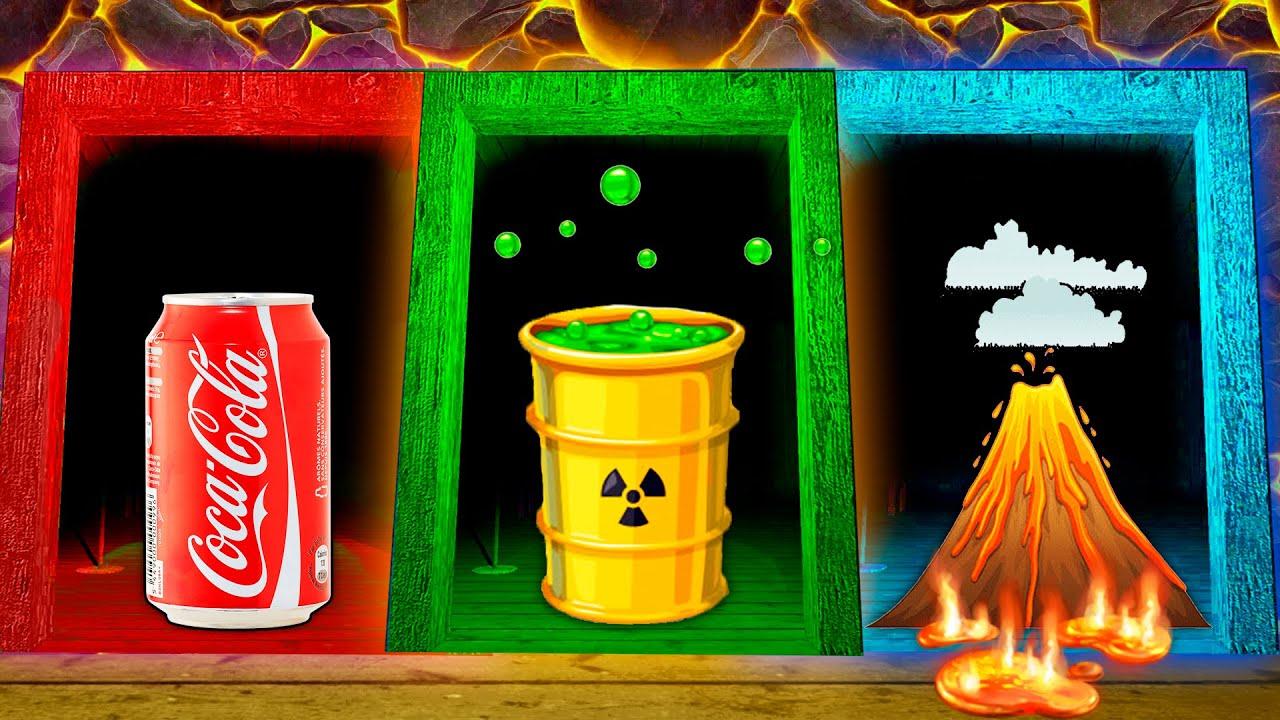 Extreme Floor is Cola vs Acid vs Lava challenge in Granny's house!