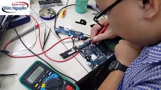 Hướng dẫn sửa Laptop Dell kích nguồn ăn dòng 0.03 dừng