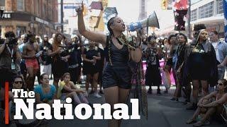 Black Lives Matter group protests at Toronto Pride parade