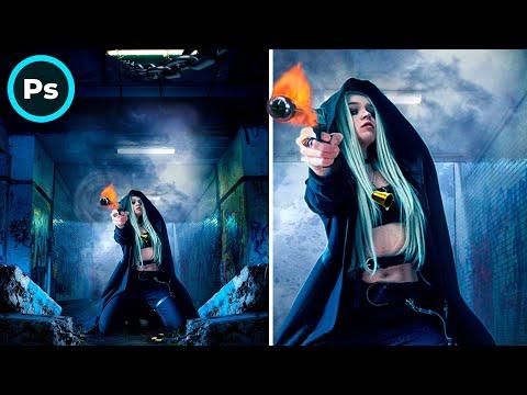 Shooting Girl / Photoshop manipulation