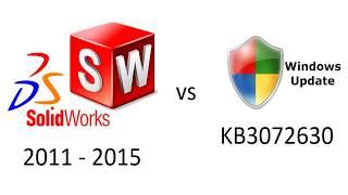 CONFLITO / ERRO: SOLIDWORKS 2011-2015 vs Microsoft KB3072630