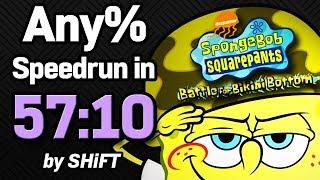 SpongeBob SquarePants: Battle for Bikini Bottom Any% Speedrun in 57:10 (WR on 3/6/2018)