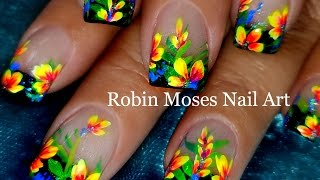 DIY Flower Nails | Easy Floral Nail Art Design Tutorial