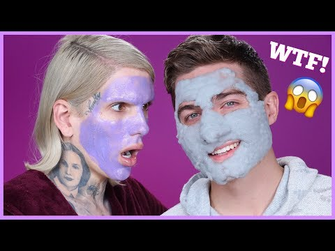 Thumbnail: TESTING CRAZY WEIRD AF FACE MASKS w. MY BOYFRIEND