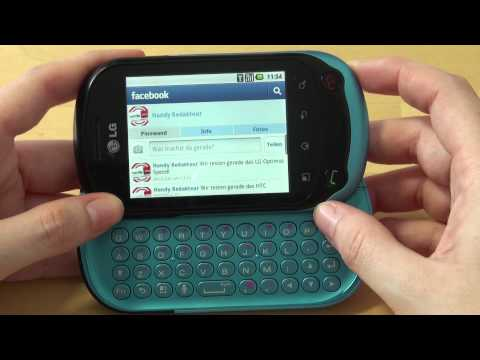 LG C550 Optimus Chat Test Internet