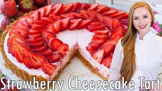 Easy Strawberry Tart with cheesecake filling