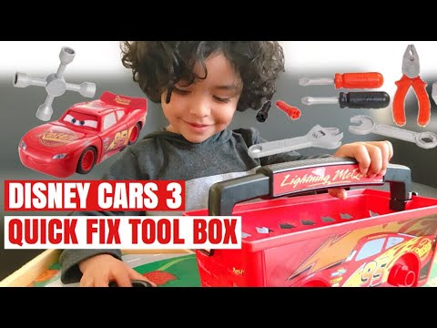 Lightning McQueen Tool Box | Disney Pixar Cars 3 Quick Fix Tool Box |  Transforming McQueen