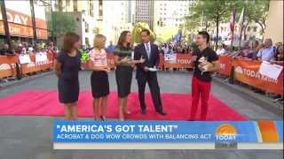 Dylan Dreyer - twirl + slim skirt and stripe top - September 7, 2014