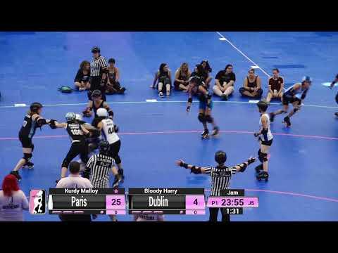 WFTDA Roller Derby - Division 2, Pittsburgh - Game 25 - Dublin vs. Paris