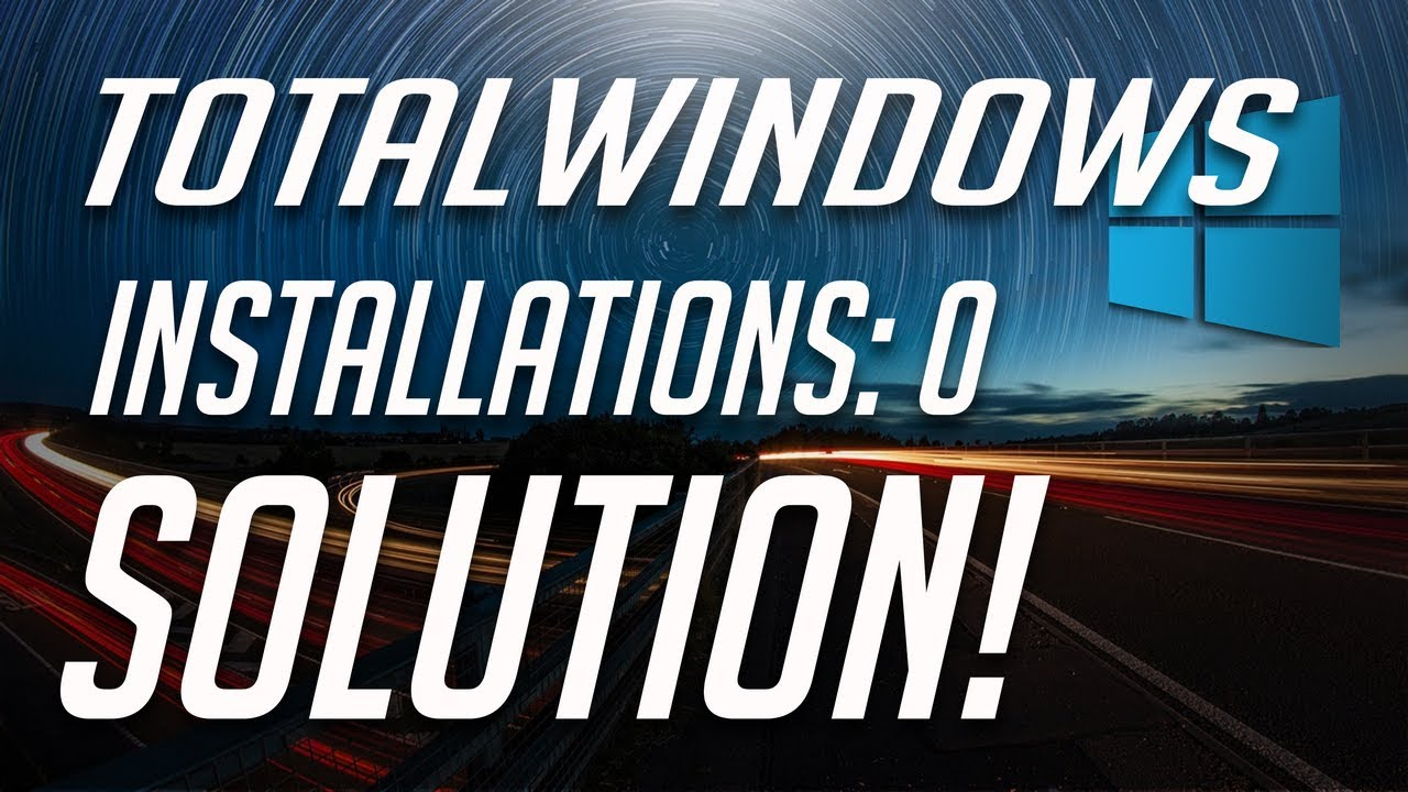 Total identified Windows installations: 0\