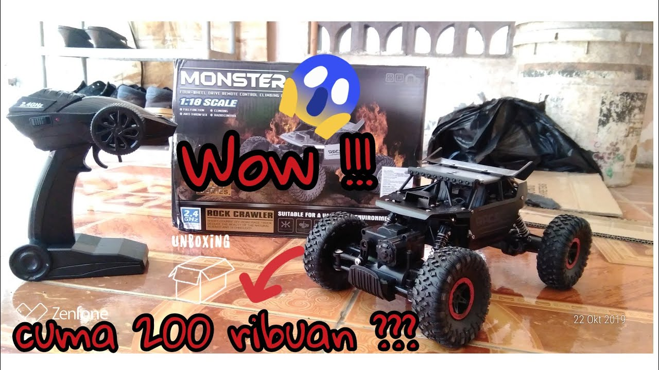 Unboxing Mobil Remot Jeep Offroad Harga 200 Ribuan Remote Wireless 2019 Youtube