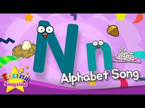 Alphabet Song - Alphabet 'N' Song - English Song For Kids