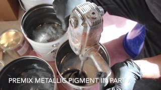 designer metallic epoxy titanium and pearl
