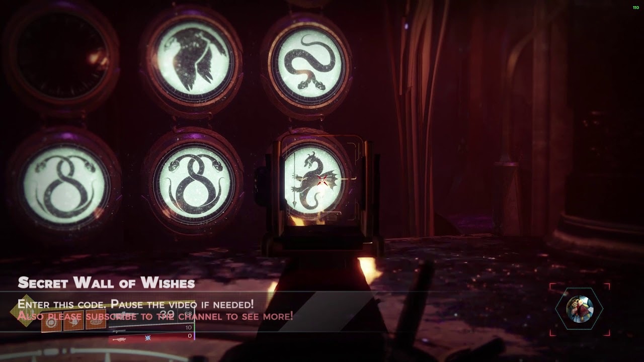 Destiny 2 Secret Wish Wall To Solo Raid Chest Youtube