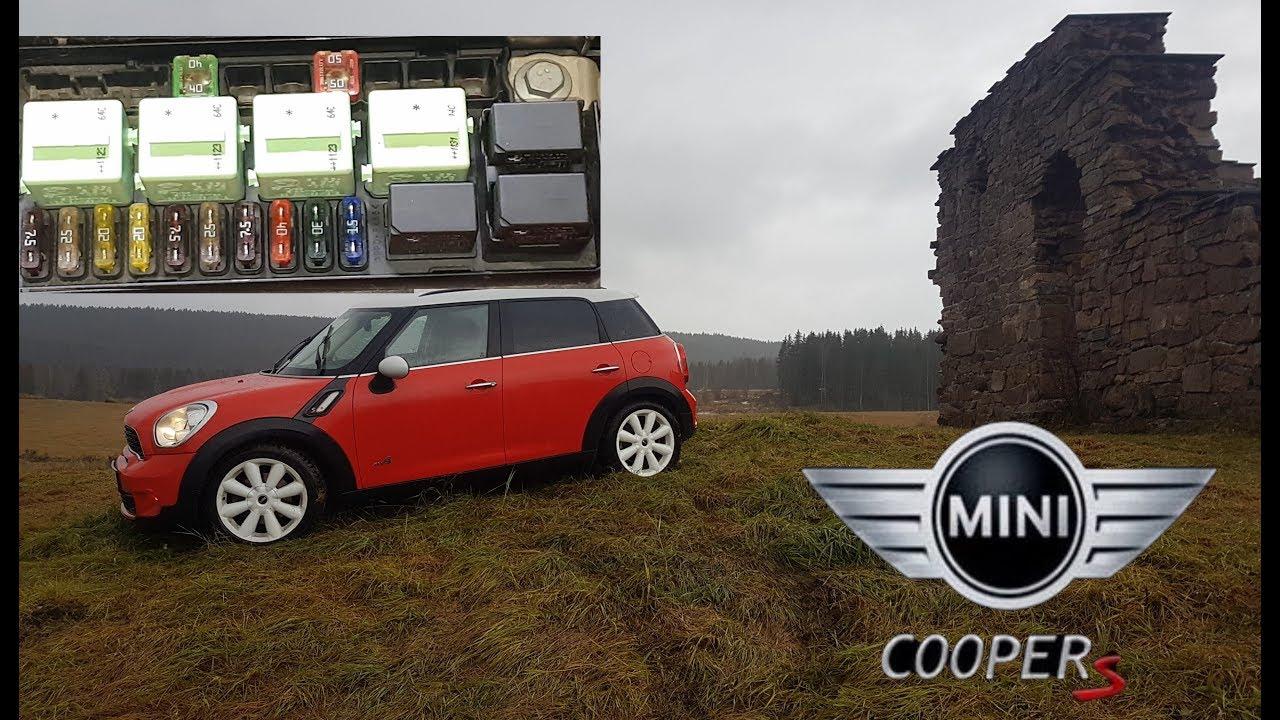 Mini Cooper S R60 All Fuses Relays Location Diagram Countryman Youtube