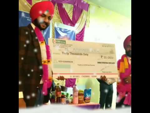 SunMark 30k and 4.5 lakh cheque distribute at Sarkaghat Himachal on 12/02/2017