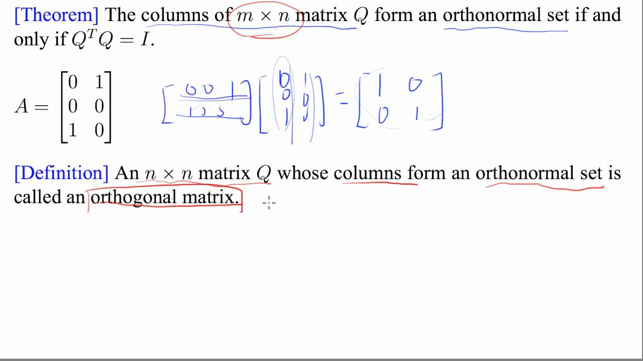 how to find orthogonal basis of a matrix