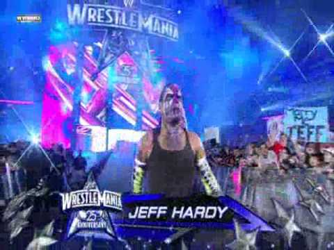 jeff hardy wrestlemania 25 entrance youtube