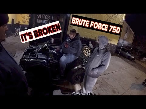 THE ATV BROKE DOWN !!! (BRUTE FORCE 750)