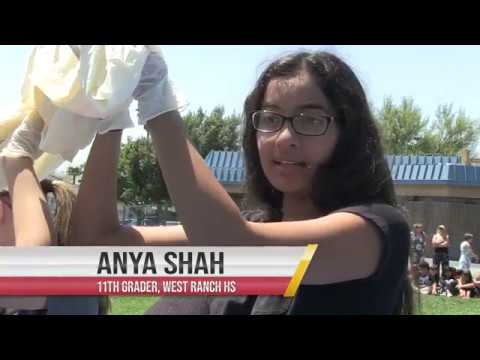 West Ranch High School students launch weather balloon