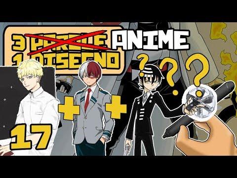 3 ANIME = 1 DISEGNO - Soul Eater, My Hero Academia, Devilman