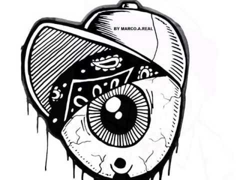 One Eye graffiti chara... Easy Gangster Joker Drawings