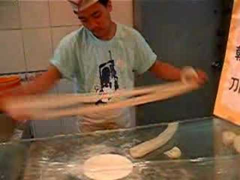 making Asian noodle