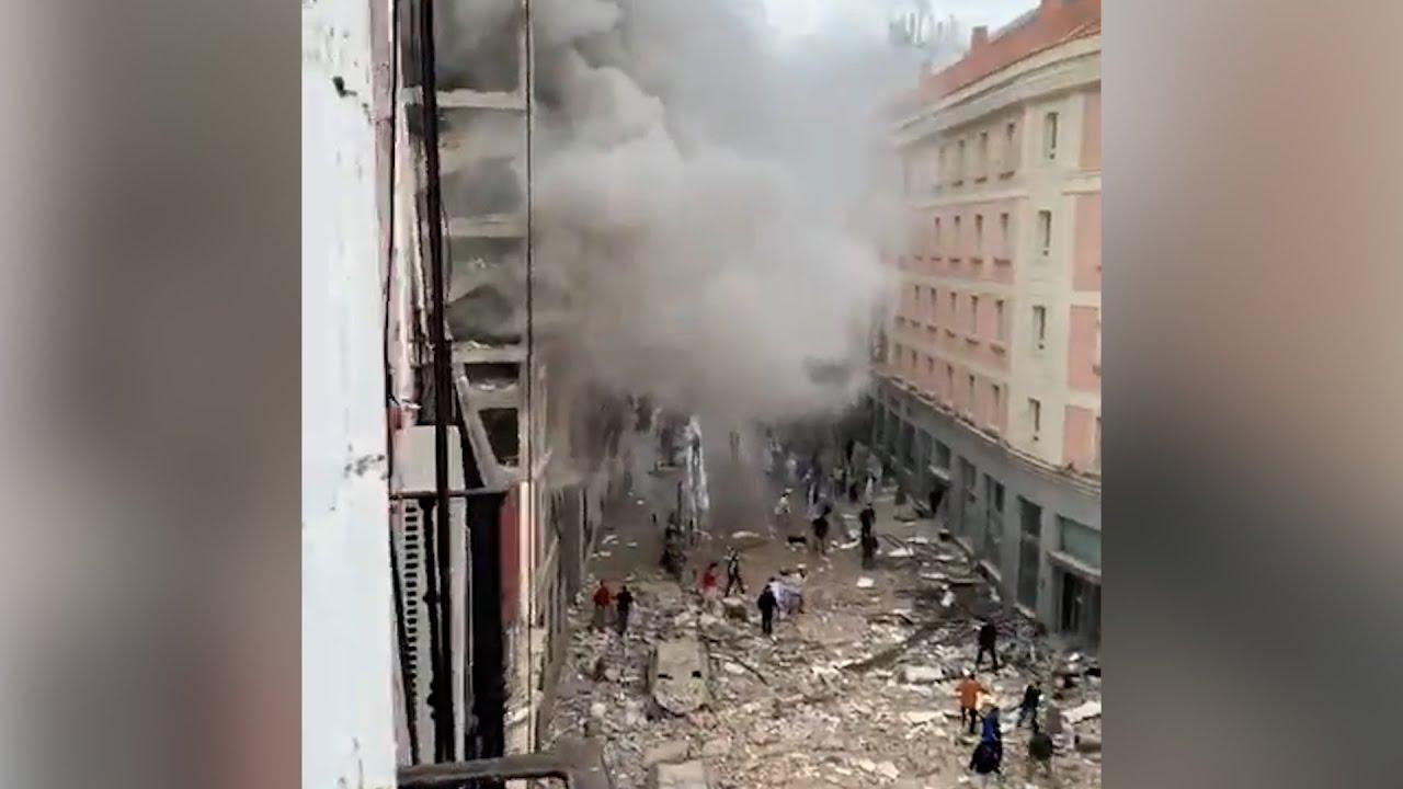 اللحظات الا?ولى لانفجار عنيف هز وسط العاصمة الا?سبانية مدريد  - نشر قبل 1 ساعة