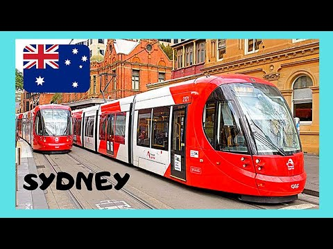 SYDNEY, riding the LIGHT RAIL (TRAM), views of the city (Australia)