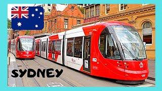 SYDNEY, riding the LIGHT RAIL (TRAM), views of the city (Australia)