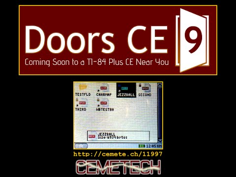 Doors CE 9 for the TI-84 Plus CE: First Look