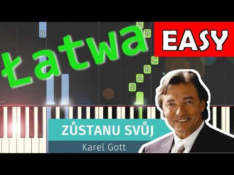 🎹 Zůstanu svůj (Karel Gott) - Piano Tutorial (łatwa wersja) 🎹