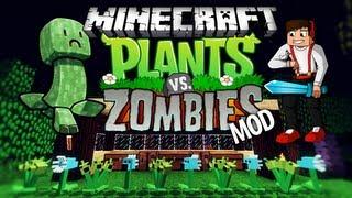 PLANTS VS ZOBIES MOD! - Minecraft Mody - Strzelające Kwiaty Broniące Cię Przed Wrogimi Mobami!