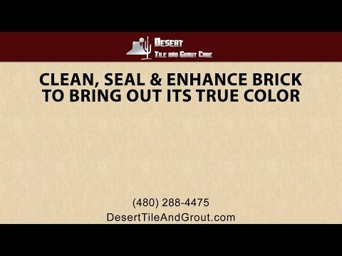 Desert Tile & Grout can clean, seal and enhance brick to bring out its true color!