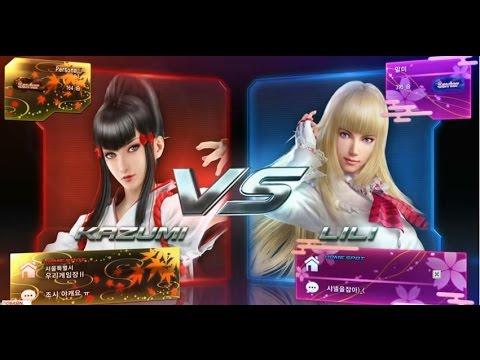 Tekken7 Kazumi(Persona) vs Lili(Malmi) 鉄拳7 철권7 korea online battle