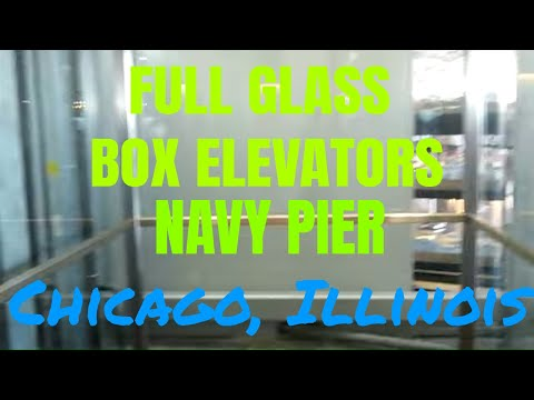 Awesome Full Glass Us Hydraulic Elevator At Navy Pier I