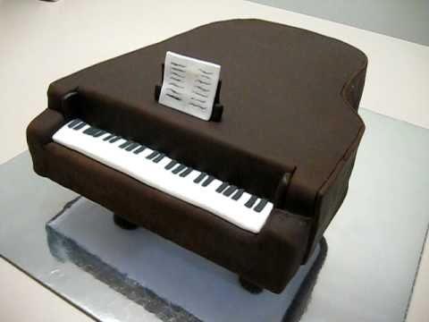 Grand Piano Fondant Cake Youtube