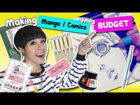 ❤ How to Make Manga & Comics on a BUDGET ❤