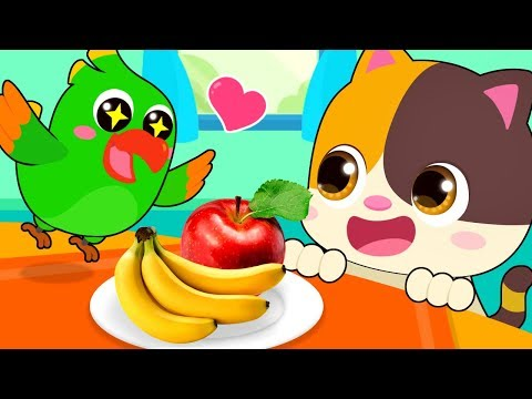 Little Parrot is Hungry   Learn Colors, Food Song   Kids Songs   Kids Cartoon   BabyBus